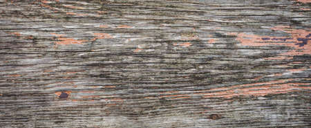 background of old wooden texture with peeling paint Stock Photo