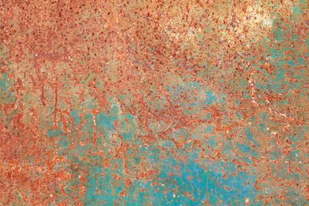 rusty turquoise iron surface texture