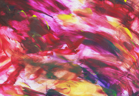 butterfly stroke: art abstract bright rainbow oil pattern background red, purple, yellow, pink colors