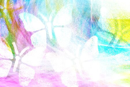 sward: White butterflies on Multicolored background