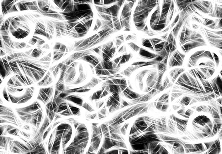 chaos: Art abstract black and white chaos pattern background