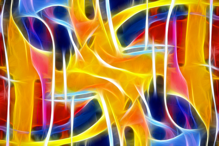 canvas on wall: art abstract colorful paint background in red, yellow, red and blue colors