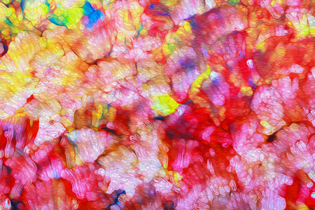 psychedelic background: art abstract bright rainbow oil pattern background red, gree, yellow, pink colors Stock Photo