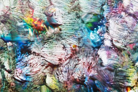 inexpressive: Abstract grunge background with red, green and blue color, similar to an interlacing of corals or poster