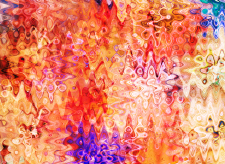 abstracted: art abstracted colorful chaotic pattern background in orange and pink Stock Photo