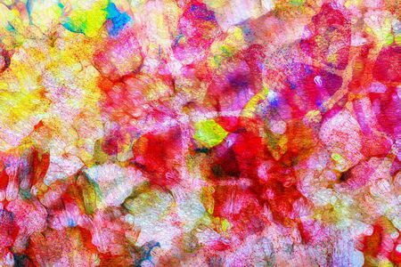 gree: art abstract bright rainbow oil pattern background red, gree, yellow, pink colors Stock Photo