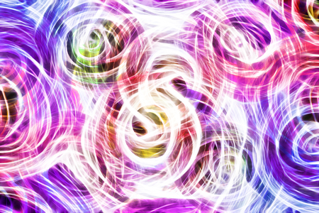 roses and blood: Art, bright Colorful light streaks abstract background in blue, pink, purple colors in the shape of flowers Stock Photo