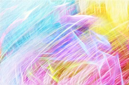 paper arts and crafts: bright Colorful abstract background in yellow, purple and blue colors, oil effect