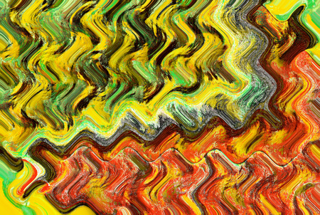 art abstract autumn waves textured background in red and green colors 版權商用圖片