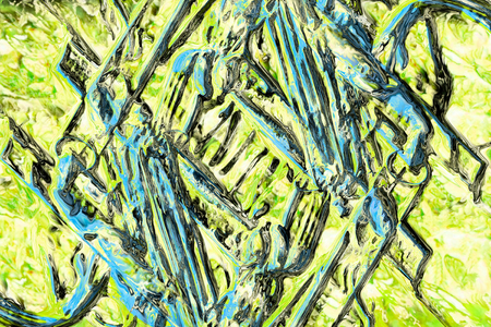 art abstract grunge texture background in blue and green colors