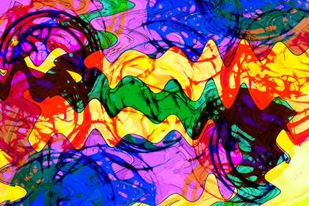 art abstract colorful vibrant paint background in red, yellow, green and blue colors