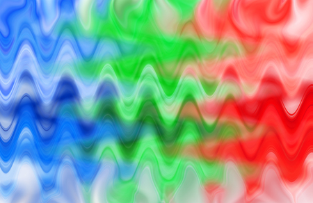 Art wave colorful texture background blue, green, red, horizontal