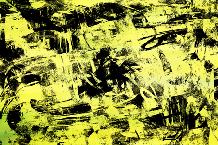 Art abstract black and yellow chaos pattern background