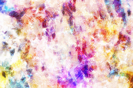 Art abstract bright watercolor pattern background in yellow, purple and blue colors