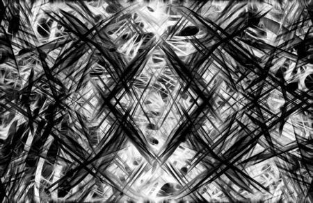 light streaks: Art abstract black and white chaos pattern background with light streaks