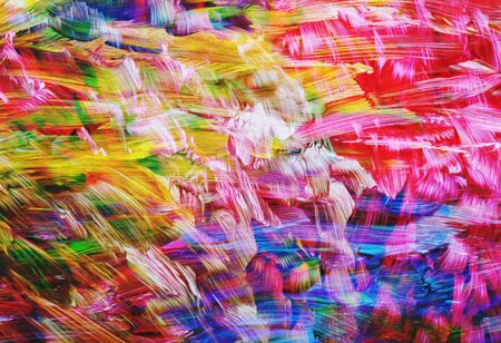 art abstract bright rainbow oil pattern background, selective focus