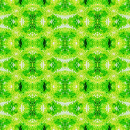 art nouveau colorful ornamental pattern background in green and yellow