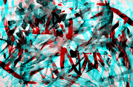 art abstract graphic aggressive grunge background in red and blue colors 版權商用圖片