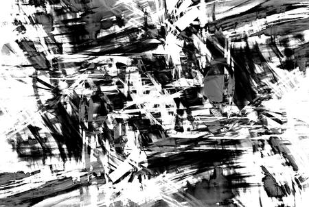 abstrakte muster: Kunst abstrakte Schwarz-Weiß-Muster im Stil der alten Grunge-Grafiken Lizenzfreie Bilder