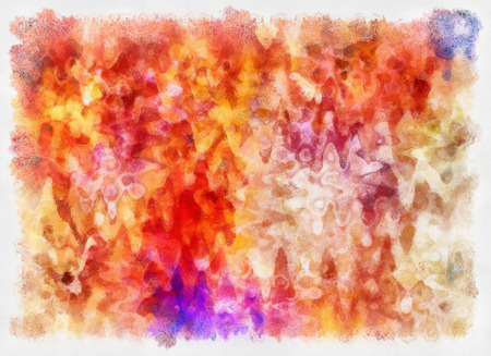 abstracted: art abstracted colorful watercolor pattern background in orange and pink Stock Photo