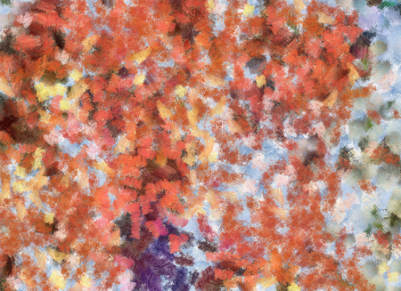 Art abstract pastel watercolor pattern background in orange and blue colors