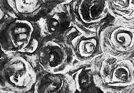 Kunst Abstrakte Schwarz-Weiß-Muster Im Stil Der Alten Grunge ...