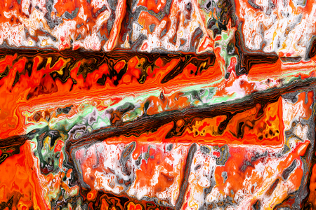 abstracted: art abstracted colorful chaotic pattern background in orange