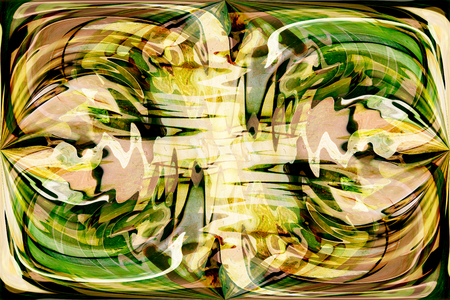 abstracted: art abstracted colorful chaotic pattern background in green and brown colors