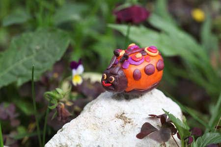 Plasticine world - little hand-made funny bug