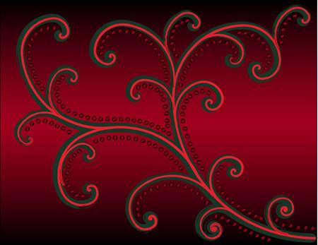 red retro pattern