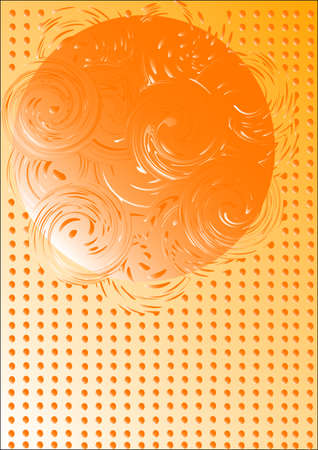 Abstract background with a sphere and whirlpools Illustration