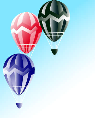 inflating: Some balloons on a blue background