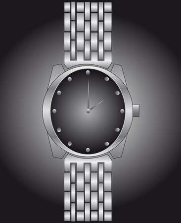 Watch in a black-and-white variant Vector