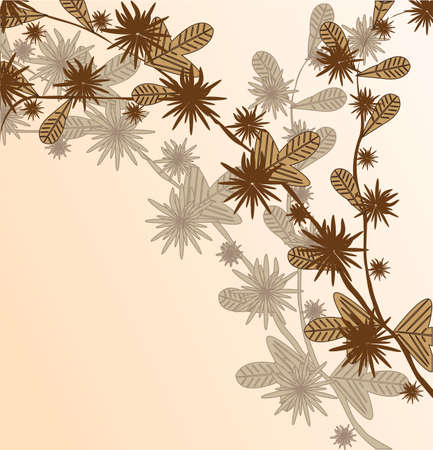 Branch of a plant, the Japanese style, background Stock Vector - 4171212