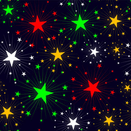 stars seamless texture Stock Vector - 17822795