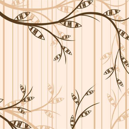 Branch of a plant, the Japanese style, background Stock Vector - 17822752