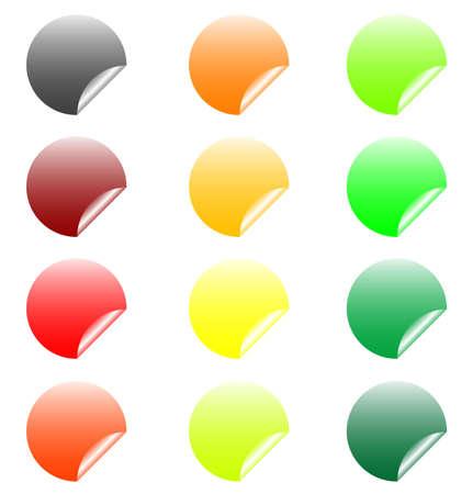 set of design elements, stickers Stock Vector - 17822713