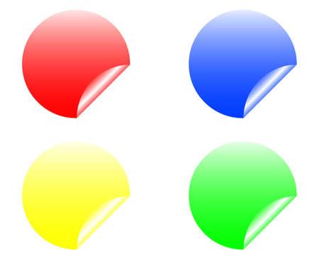 set of design elements, stickers Stock Vector - 17822673