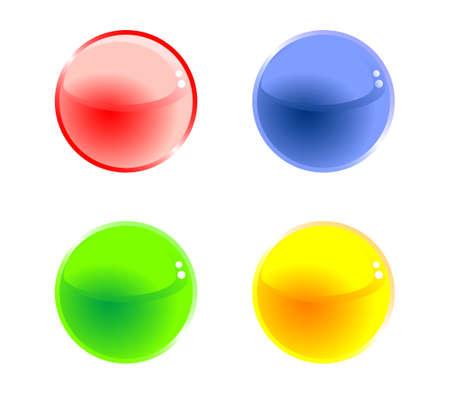 set of design elements, balls Stock Vector - 17822681