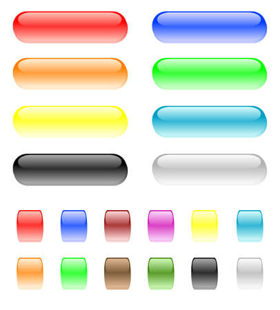 set of design elements - shiny buttons