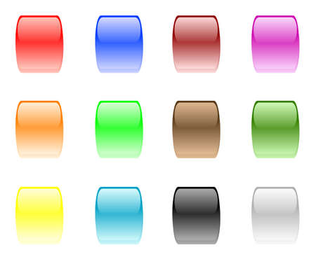 set of design elements - shiny buttons   Illustration