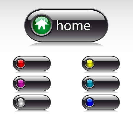 set of buttons for web design