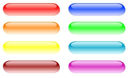 shiny buttons: set of design elements - shiny buttons   Illustration