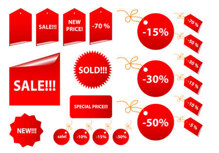 Set of vector sale stickers and labels