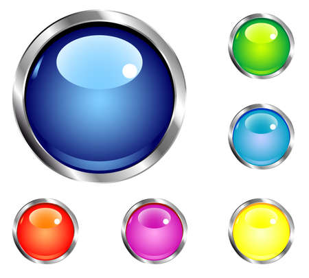 set of buttons for web design Stock Vector - 17822697