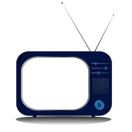 retro vector tv with antenns