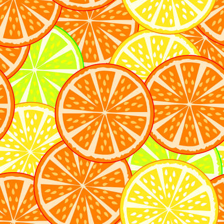 oranges and lemons, seamless texture    Vector