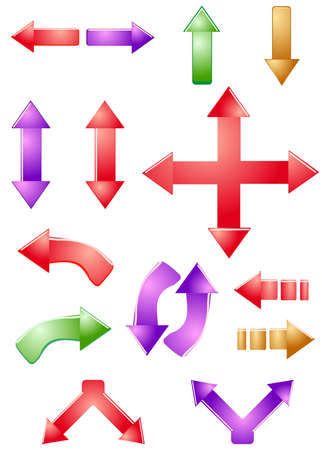 Set of vector arrows Stock Vector - 17822625