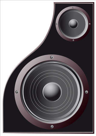 high volume: speakers, low and high frequencies