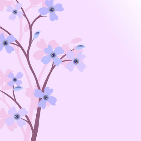 woodblock: Branch of a plant, the Japanese style, background. To see similar, please visit my portfolio